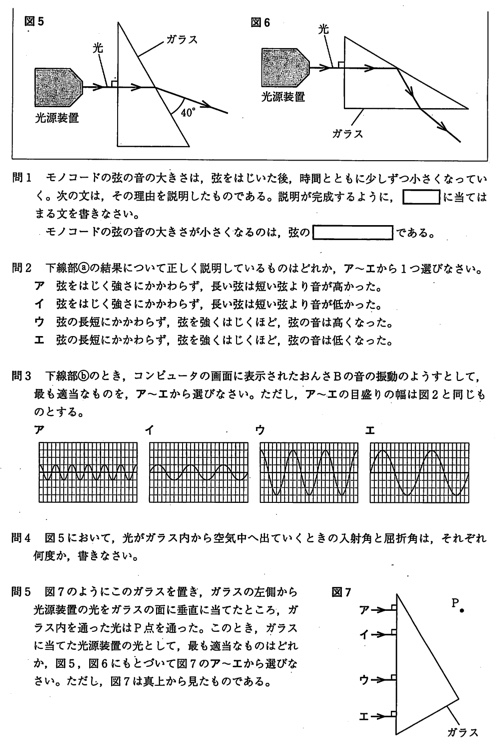 北海道公立高校入試理科2014年過去問