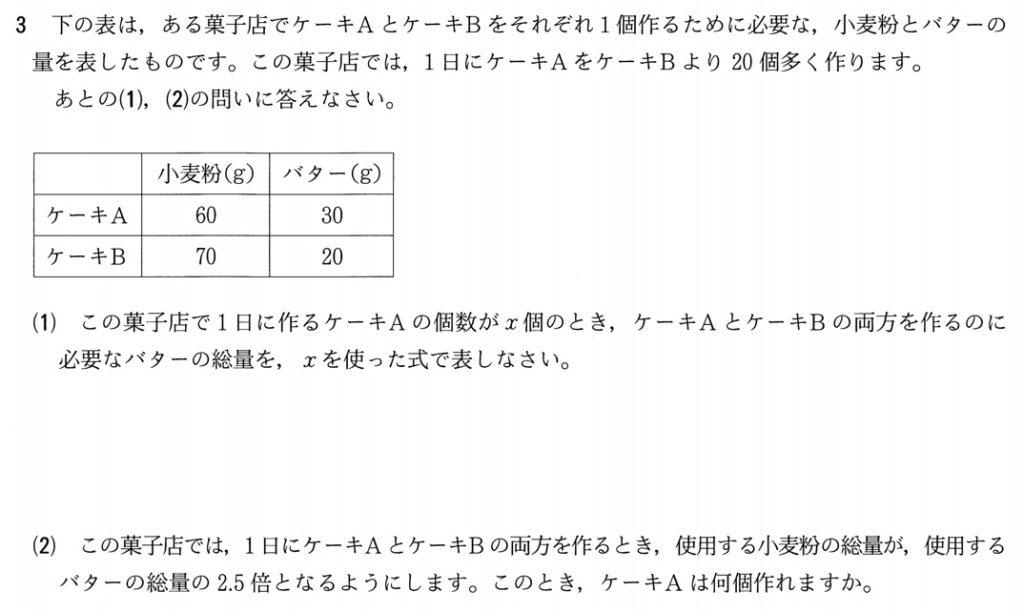 2019年宮城県公立高校入試数学問題