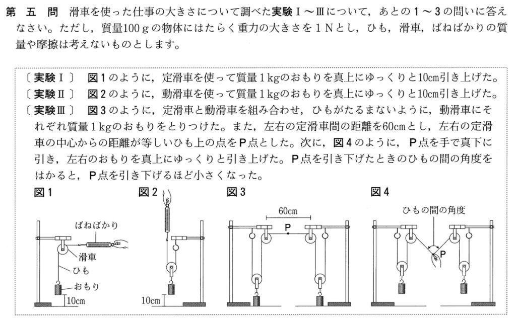 2019年宮城県公立高校入試理科問題