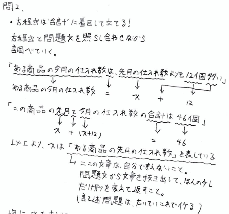 北海道学力テスト中1数学2016年第3回過去問 解答・解説
