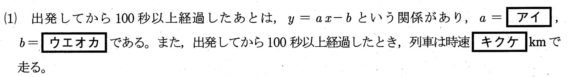 高専入試数学2021年(令和3年)過去問題